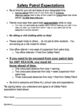 Safety Patrol Expectations Contract