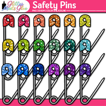 Safety Pin Clip Art {Sew Your Classroom Community Together, Free Download}