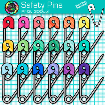 Safety Pin Clip Art {Sew Your Classroom Community Together