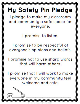Safety Pin Pledge: Creating Safe Space In The Classroom