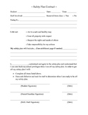 Safety Plan Contract
