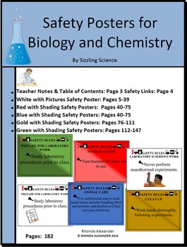 Safety Posters for Chemistry and Biology