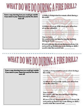 Safety Procedures and Drill Booklet for Students - Second and Third Grade