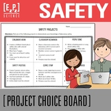 Lab Safety Science Project Choice Board