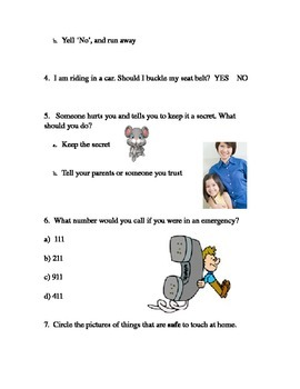 Safety & Responsibility Health Quiz