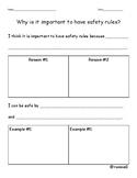 Safety Rules Worksheet