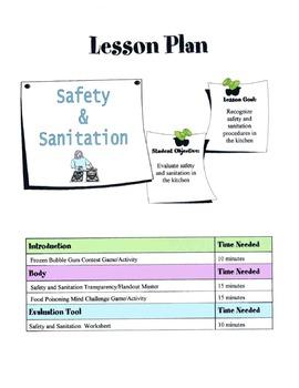 Safety & Sanitation Lesson