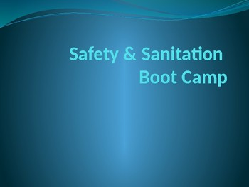 Safety & Sanitation Boot Camp