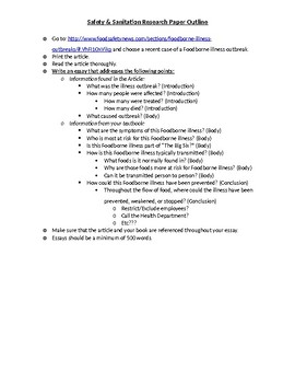 Safety & Sanitation Research Paper Outline