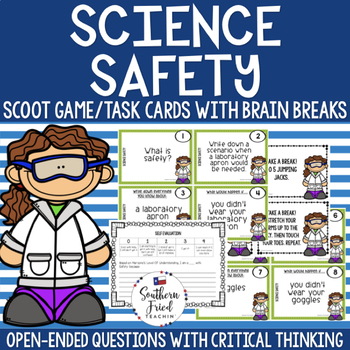 Science Safety Scoot Game/Task Cards