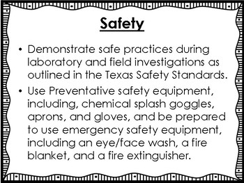 Safety Science Unit Overview Booklet (Pre-Assessment and visuals)