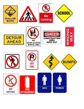 Safety Sign Activity/ Environmental Awareness