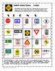 Reading Safety Signs Bingo