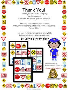 Safety Sign Bingo 30 Gameboards Environmental Print