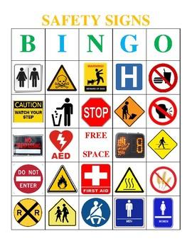 Safety Sign Bingo