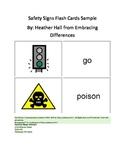 Safety Sign Flash Card Sample