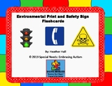 Environmental Print and Safety Sign Flash Cards