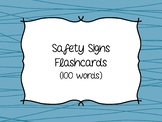 Functional Reading - Safety Signs Sight Word Flashcards