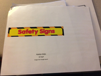 Safety Sign Pre-Literacy Book