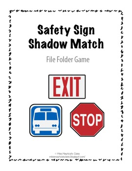 Safety Sign Shadow Match