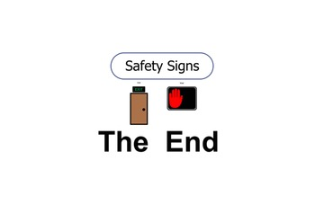 Safety Sign UNIT END PAGE - Stop, Go, Wait, and Exit END PAGE
