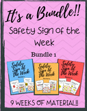Safety Sign Special Education Bundle 1