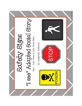 Safety Signs Adapted Social Story & Student Book: Early Elementary & Special Ed