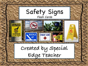 Safety Signs Flash Cards