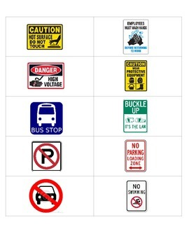 Safety Signs Flashcards