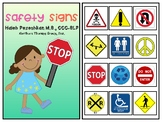 Safety Signs Interactive Vocabulary Book