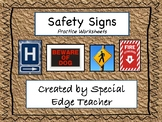 Safety Signs Practice Worksheets