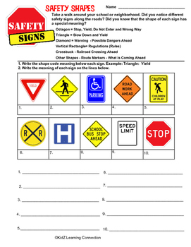 Safety Signs; Math and Reading