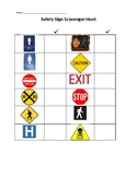 Safety Signs Scavenger Hunt- Checklist