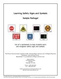 Safety Signs and Symbols Worksheets - Sampler