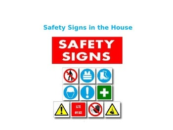 Safety Signs in the House