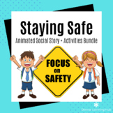 Safety Social Story + Activity Bundle - Special Ed / Autis