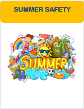 """""""Summer Safety"""" Mini-lesson, quiz and art activity"""