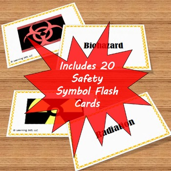 Safety Symbols Flash Cards