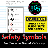 Safety Symbols Graphic Organizer for Interactive Notebooks