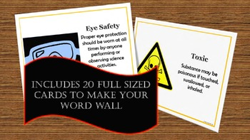 Safety Symbols Interactive Word Wall