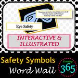 Safety Symbols Interactive Word Wall