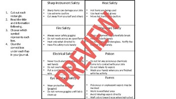 Safety Symbols and Equipment Foldables