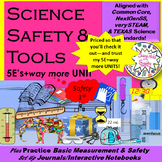 TOOLs, Safety, Science Measurement & Notebook SetUP-complete UNIT-5Es+way more!