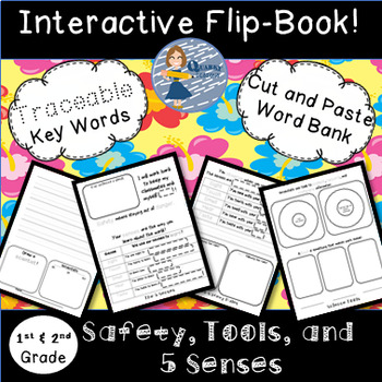 Safety, Tools, and 5 Senses Bundle: Flip Book and Pocket Chart Sentence Builders