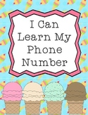 Safety Unit: I Can Learn My Phone Number!
