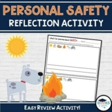 Safety Unit Reflection Activity - Primary