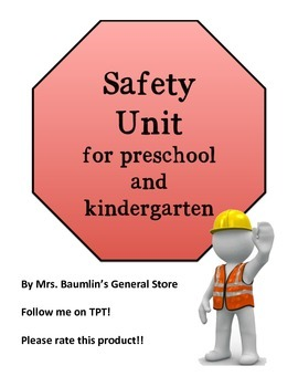 Safety Unit printables and lesson ideas