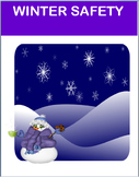 "Safety- ""Winter Safety""- lesson, 3 activities, coloring pages"