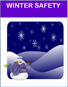 "Safety- ""Winter Safety""- lesson, 2 activities, coloring pages"