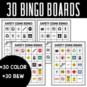 Safety and Community Signs Bingo and Memory Games